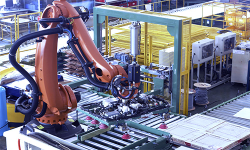 Automation smart board packing line and robot palletizer system